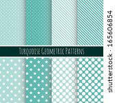 set of 8 seamless geometric... | Shutterstock .eps vector #165606854