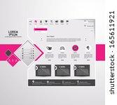 abstract website template    Shutterstock .eps vector #165611921