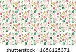 pink rose floral pattern...   Shutterstock .eps vector #1656125371