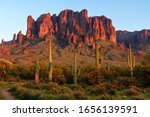 The Superstition Mountains And...