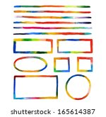watercolor lines and frames   Shutterstock . vector #165614387