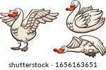 cartoon swan in different ... | Shutterstock .eps vector #1656163651