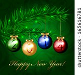 2014   christmas tree with...   Shutterstock . vector #165616781