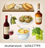 set of traditional french... | Shutterstock .eps vector #165617795