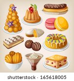 set of traditional french... | Shutterstock .eps vector #165618005