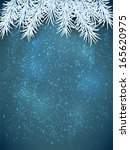 blue winter abstract background.... | Shutterstock .eps vector #165620975
