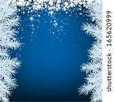 blue winter abstract background.... | Shutterstock .eps vector #165620999