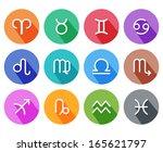 flat trendy zodiac symbols with ... | Shutterstock .eps vector #165621797
