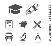 education school icons set... | Shutterstock .eps vector #165621839
