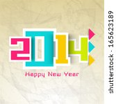 happy new year 2014 celebration ... | Shutterstock .eps vector #165623189