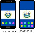 two black smartphones with a... | Shutterstock .eps vector #1656238591