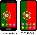 two black smartphones with a... | Shutterstock .eps vector #1656240661