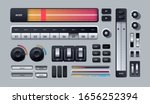 user interface elements. set of ...