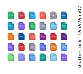 files format icons set  with... | Shutterstock .eps vector #1656265507