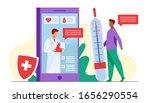 online doctor support via... | Shutterstock .eps vector #1656290554