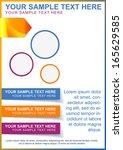 brochure  flayer or cover... | Shutterstock .eps vector #165629585