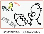 Spring Chick Easter Coloring...