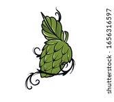 hops beer vector illustration... | Shutterstock .eps vector #1656316597
