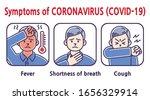 symptoms of coronavirus covid... | Shutterstock .eps vector #1656329914
