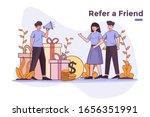 vector illustration referral...