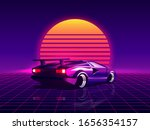 retro futuristic back side view ... | Shutterstock .eps vector #1656354157