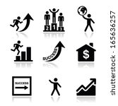 success in business  self... | Shutterstock .eps vector #165636257