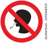do not spit saliva vector   Shutterstock .eps vector #1656368314