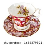 Close Up Of Vintage Red Tea Cu...
