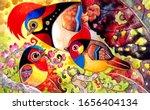 colorful birds in wonderful...   Shutterstock . vector #1656404134