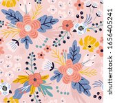 seamless floral pattern.... | Shutterstock .eps vector #1656405241