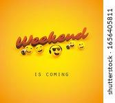 weekend's coming banner design... | Shutterstock .eps vector #1656405811