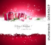red christmas greeting card... | Shutterstock .eps vector #165640619