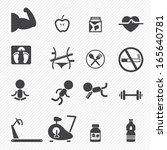 fitness icons | Shutterstock .eps vector #165640781
