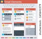 vector email user interface... | Shutterstock .eps vector #165641579