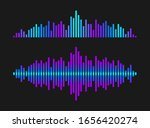 sound wave rhythm. colorful... | Shutterstock .eps vector #1656420274