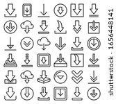download icon set on white...   Shutterstock .eps vector #1656448141