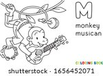 monkey musician abc coloring... | Shutterstock .eps vector #1656452071