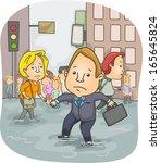 Illustration Of People Wading...