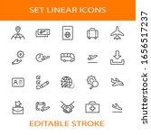 set of airport related vector... | Shutterstock .eps vector #1656517237