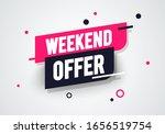vector illustration weekend... | Shutterstock .eps vector #1656519754