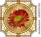 vector mosaic with blooming red ... | Shutterstock .eps vector #1656521761