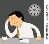 stressful businessman sitting...   Shutterstock .eps vector #165657299