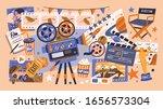 cartoon cinema design concept... | Shutterstock .eps vector #1656573304