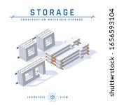 concrete storage concept.... | Shutterstock .eps vector #1656593104