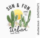 typography slogan with cactus... | Shutterstock .eps vector #1656593671