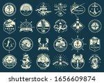 vintage monochrome maritime... | Shutterstock . vector #1656609874
