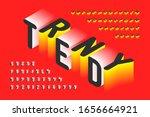 isometric style trendy 3d font  ... | Shutterstock .eps vector #1656664921
