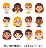 cute cartoon children avatars... | Shutterstock .eps vector #1656677464