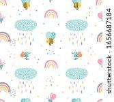 childish seamless vector... | Shutterstock .eps vector #1656687184