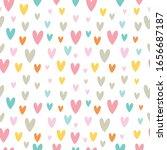 childish seamless vector... | Shutterstock .eps vector #1656687187